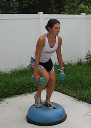 Bosu Ball: Squats - Single Leg