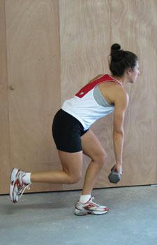 One Leg Squat-Dumbbell