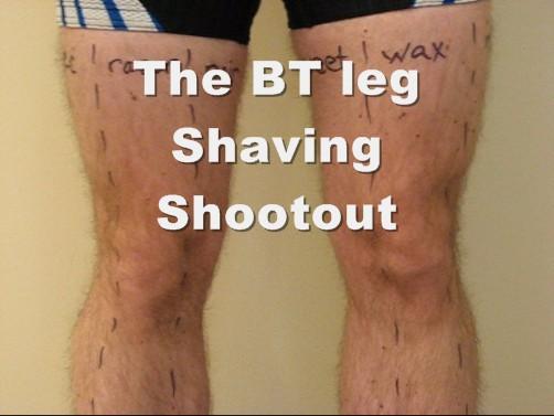 Shaving man leg